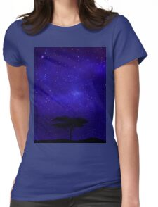 Tree Lost Beyond The Stars Womens Fitted T-Shirt
