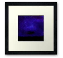 Tree Lost Beyond The Stars Framed Print
