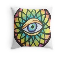 Hippy Eye Throw Pillow