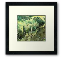 The side of the ditch Framed Print