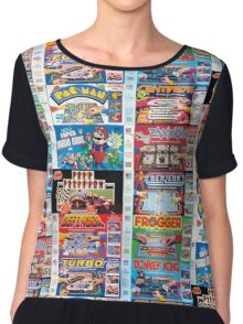 Arcade Board Games Chiffon Top