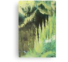 Grassy side of the ditch Canvas Print