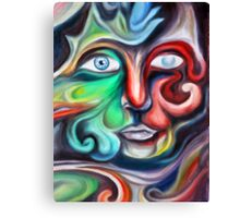 A Face of Swirls Canvas Print
