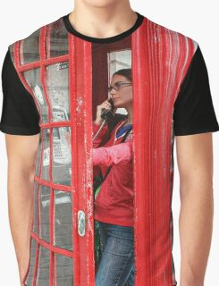 Girl at the Telephone Booth Graphic T-Shirt