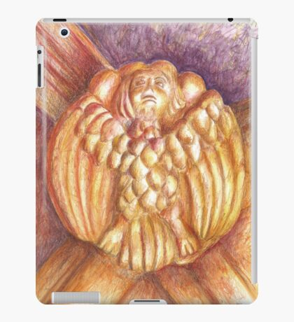a bird in the Monastery. Anthropomorfism. vault keystone iPad Case/Skin