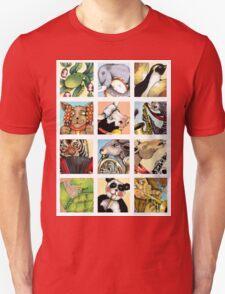 Animal Musicians Montage Unisex T-Shirt