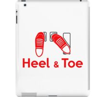 Heel & Toe (2) iPad Case/Skin