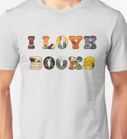I Love Books Unisex T-Shirt