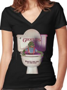 Ghoulies  Women's Fitted V-Neck T-Shirt