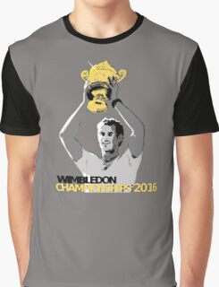 Andy Murray Wimbledon Champions 2016 Graphic T-Shirt