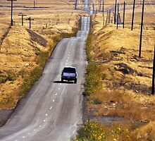 A Country Road in the Foothills Near Coalinga Oil Country by Buckwhite