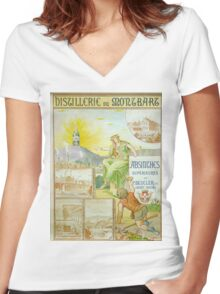 Vintage poster - Absinthe Beucler Women's Fitted V-Neck T-Shirt
