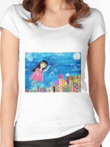The Moon is my Balloon Women's Fitted Scoop T-Shirt