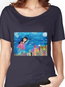 The Moon is my Balloon Women's Relaxed Fit T-Shirt
