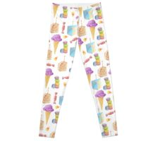 Junk Food Dessert Pattern Leggings