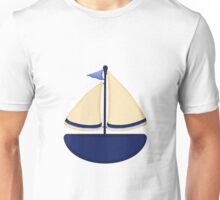 Blue and Yellow Sailboat Unisex T-Shirt
