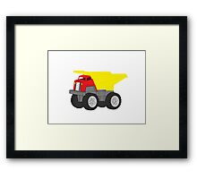 Red and Yellow Dump Truck Framed Print