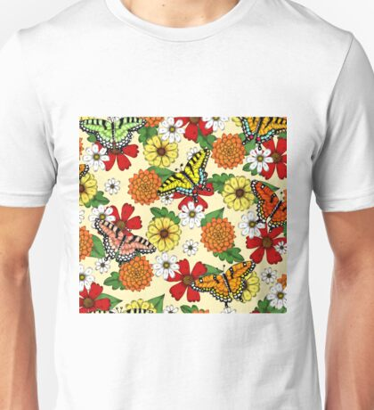 Floral Fantasy Pattern Unisex T-Shirt