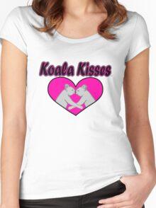 Koala Kisses  Women's Fitted Scoop T-Shirt