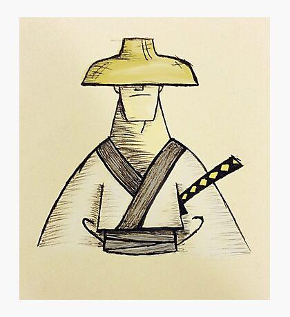 Samurai Jack Watercolor Photographic Print