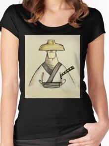 Samurai Jack Watercolor Women's Fitted Scoop T-Shirt