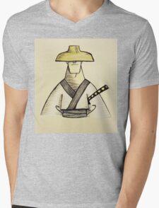 Samurai Jack Watercolor Mens V-Neck T-Shirt