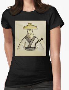 Samurai Jack Watercolor Womens Fitted T-Shirt