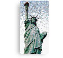 Americana Raining Mosaic Canvas Print
