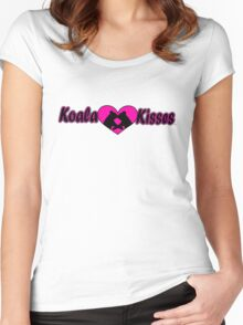 Koala Kisses #2 Women's Fitted Scoop T-Shirt