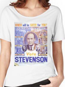 Vintage poster - Adlai Stevenson Women's Relaxed Fit T-Shirt