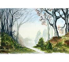 watercolour forest by dave shaw