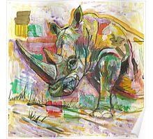 Rhinoceros Love Poster