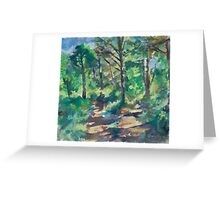 Shady Forest Greeting Card