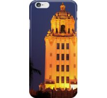 Beverly Hills City Hall Stands in the Sunset Glow iPhone Case/Skin
