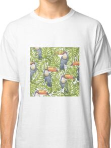 Toucan In The Jungle Pattern Classic T-Shirt
