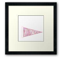 Girl Power Penant Framed Print