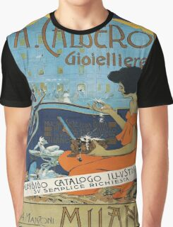 Vintage poster - A. Calderoni Gioielliere Graphic T-Shirt