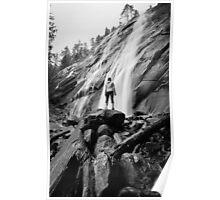 Back to the Camera - Bridal Veil Falls, Washington Poster