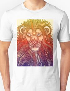 Majestic Lion - Rainbow Themed Zentangle Unisex T-Shirt