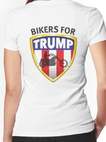 Bikers For Trump Women's Fitted V-Neck T-Shirt