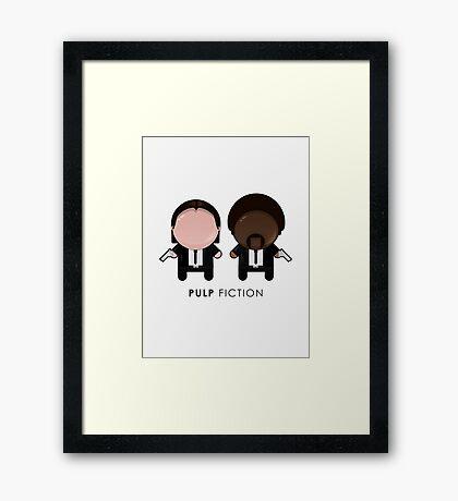 Pulp Fiction // Jules and Vincent Framed Print