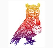 Great Horned Owl with Pocket Watch - Rainbow Unisex T-Shirt