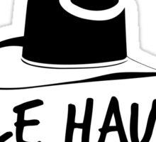 Nicole Haught minimal Stetson - Wynonna Earp Sticker