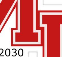 Mars 2030 - The University Of Mars Sticker