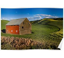 Red Sided Barn Poster