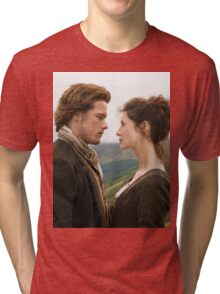 Jamie and Claire Outlander Tri-blend T-Shirt