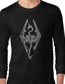80's Cyber Imperial Elder Scrolls Logo Long Sleeve T-Shirt