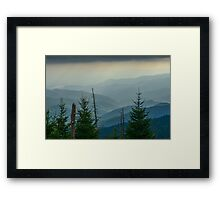 The Great Smoky Mountains, Tennessee. Framed Print