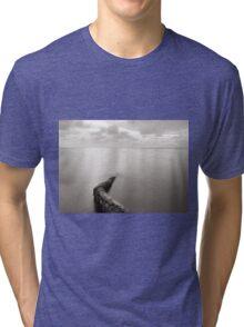 Long exposure seascape with fallen palm tree Tri-blend T-Shirt