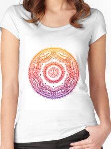 Circle Design - Rainbow Women's Fitted Scoop T-Shirt